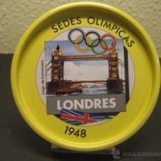 Coleccionismo deportivo: POSAVASOS METALICO SEDE OLIMPICA LONDRES 1948. JUEGOS OLIMPICOS, OLIMPIADAS. Lote 55061680