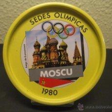 Coleccionismo deportivo: POSAVASOS METALICO SEDE OLIMPICA MOSCU 1980. JUEGOS OLIMPICOS, OLIMPIADAS. Lote 55061688