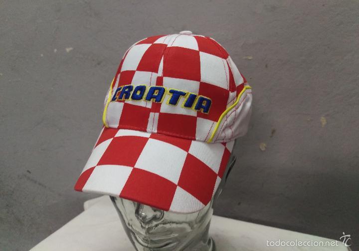 GORRA TELA FUTBOL CROATIA CROACIA TALLA 58 CM. (Coleccionismo Deportivo - Merchandising y Mascotas - Otros deportes)