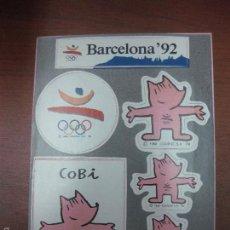 Coleccionismo deportivo: PEGATINAS BARCELONA 92. COBI.. Lote 58592277