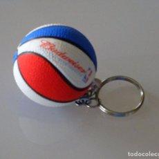 Coleccionismo deportivo: LLAVERO. CERVEZA CERVEZAS BUDWEISER. NBA BALONCESTO. . Lote 103383810