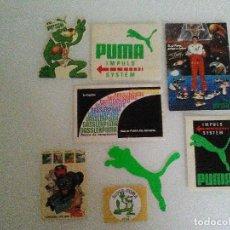 Coleccionismo deportivo: LOTE PUMA 7 PEGATINAS Y UN PEQUEÑO CATALOGO DE LA COLECCIÓN FERNANDO ROMAY DE LOS AÑOS 80. Lote 64969779