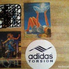 Coleccionismo deportivo: LOTE ADIDAS 3 PEGATINAS DE LA MARCA DEPORTIVA ADIDAS DE LOS AÑOS 80-90. Lote 66075474