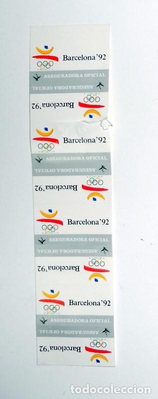 LOTE 8 PEGATINAS JUEGOS OLIMPICOS BARCELONA 92 FENIX ASEGURADORA OFICIAL. OLYMPIC GAMES STICKERS (Coleccionismo Deportivo - Merchandising y Mascotas - Otros deportes)