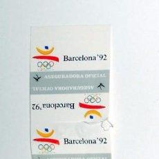 Coleccionismo deportivo: LOTE 8 PEGATINAS JUEGOS OLIMPICOS BARCELONA 92 FENIX ASEGURADORA OFICIAL. OLYMPIC GAMES STICKERS. Lote 69962197