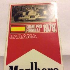 Coleccionismo deportivo: PEGATINA GRAND PRIX FORMULA 1 1978 JARAMA MARLBORO WORLD CHAMPIONSHIP TEAM. Lote 77416087
