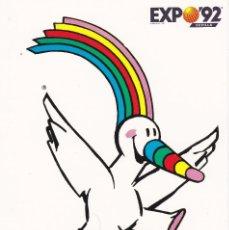 Coleccionismo deportivo: POSTAL DE CURRO LA MASCOTA OFICIAL DE LA EXPO DE SEVILLA 1992. Lote 152344705