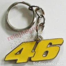 Coleccionismo deportivo: LLAVERO NÚMERO 46 - EL DE VALENTINO ROSSI ( PILOTO ITALIANO DE MOTO GP )- DEPORTE MOTOCICLISMO METAL. Lote 79779161