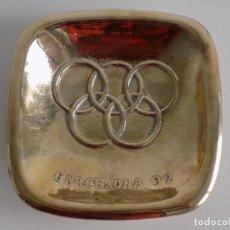 Coleccionismo deportivo: CENICERO DORADO DE LA CASA VALENTI EN CONMEMORACION OLIMPIADAS BARCELONA' 92 (NUEVO, A ESTRENAR). Lote 81860540