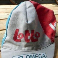 Coleccionismo deportivo: ANTIGUA GORRA DE CICLISMO OMEGA PHARMA LOTTO - GORRA DE CICLISTA RETRO -. Lote 85346464
