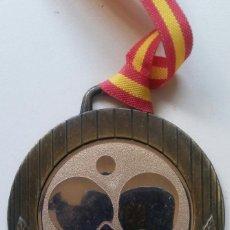 Coleccionismo deportivo: DOS MEDALLAS CTO. DE ESPAÑA EQUIPOS MASC. INF. MAZARRON 1990. Lote 87011504