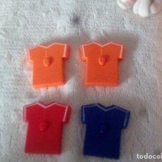 Coleccionismo deportivo: CUATRO CAMISETAS DE FUTBOL DE KELLOGG KELOG COMPANY.AÑO 2004.. Lote 93796945