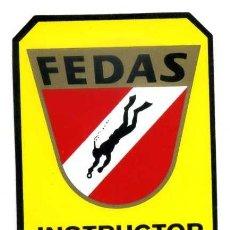 Coleccionismo deportivo: ESTAMPA FEDAS INSTRUCTOR 3 ESTRELLAS. Lote 160210338