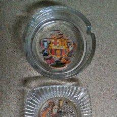 Coleccionismo deportivo: 2 CENICEROS DEL BARCELONA. Lote 95703971