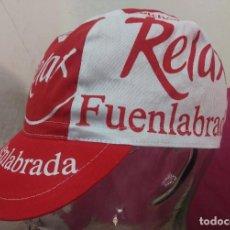 Coleccionismo deportivo: GORRA EQUIPO CICLISTA CICLISMO RELAX FUENLABRADA EN TELA. Lote 97035107
