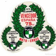 Coleccionismo deportivo: PEGATINA PUCH MOTO-CROSS CORONIL EVERTS SCABURRI . Lote 97880947