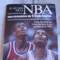 Coleccionismo deportivo: INTERESANTE ADHESIVO PEGATINA NBA BALONCESTO MUNDO DEPORTIVO. Lote 100380715