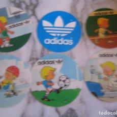 Coleccionismo deportivo: INTERESANTE LOTE 6 ADHESIVOS PEGATINAS PUBLICIDAD ADIDAS . Lote 100380903