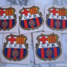 Coleccionismo deportivo: INTERESANTE LOTE 5 ADHESIVOS PEGATINAS DEL FUTBOL CLUB BARCELONA. Lote 100381135