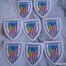 Coleccionismo deportivo: INTERESANTE LOTE 8 ADHESIVOS PEGATINAS DEL ATHLETIC CLUB DE BILBAO FUTBOL. Lote 100381175