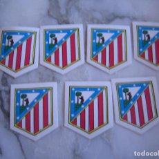 Coleccionismo deportivo: INTERESANTE LOTE 7 ADHESIVOS PEGATINAS DEL ATLETICO DE MADRID FUTBOL. Lote 100381227