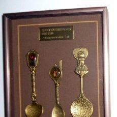 Coleccionismo deportivo: SET. CUCHARILLAS TIPICAS CONMEMORATIVAS CUADRO. JUEGOS OLIMPICOS SEUL 88 OLYMPIC GAMES SEOUL OFICIAL. Lote 104095103