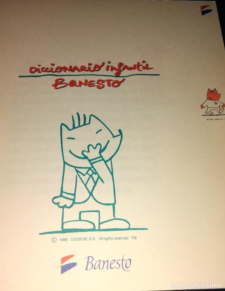 Coleccionismo deportivo: Diccionario Infantil Banesto - Cobi va al banco - Mascota Olimpiada Barcelona 92 con ilustraciones - Foto 2 - 104563347