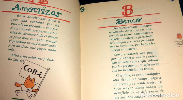 Coleccionismo deportivo: Diccionario Infantil Banesto - Cobi va al banco - Mascota Olimpiada Barcelona 92 con ilustraciones - Foto 3 - 104563347