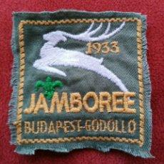 Coleccionismo deportivo: BOYS SCOUTS. JAMBOREE DE HUNGRIA 1933. PARCHE BORDADO DE CAMISA. ENVIO CERTIFICADO INCLUIDO.. Lote 114717984