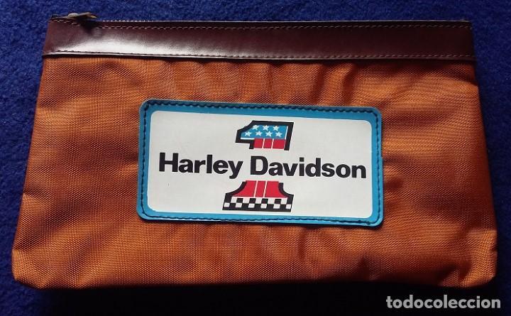 HARLEY DAVIDSON ESTUCHE DE NYLON, PORTATODO CON CREMALLERA AÑOS 80 (Coleccionismo Deportivo - Merchandising y Mascotas - Otros deportes)