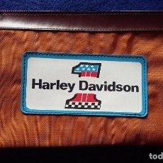 Coleccionismo deportivo: HARLEY DAVIDSON ESTUCHE DE NYLON, PORTATODO CON CREMALLERA AÑOS 80. Lote 115401795