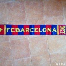Coleccionismo deportivo: BUFANDA OFICIAL DEL FC BARCELONA, PRODUCTO OFICIAL FCB, VINTAGE. Lote 117303715