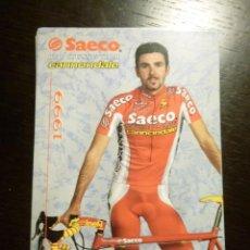Coleccionismo deportivo: LOTE DE 15 TARJETAS PUBLICITARIAS EQUIPO CICLISTA SAECO CANONDALE 1999 CIPOLLINI SALVODELLI DUFAUX. Lote 117478659