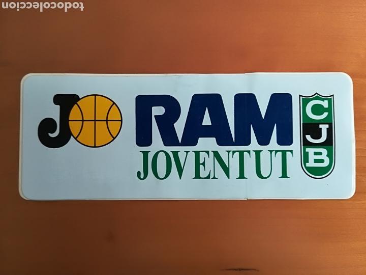 PEGATINA ADHESIVO PUBLICIDAD RAM JOVENTUT DE BADALONA - BALONCESTO BASKET CJB (Coleccionismo Deportivo - Merchandising y Mascotas - Otros deportes)