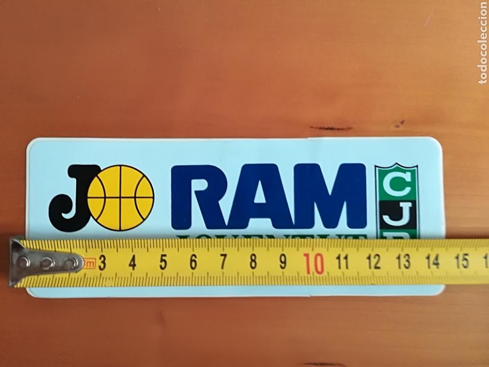 Coleccionismo deportivo: Pegatina adhesivo publicidad Ram Joventut de Badalona - Baloncesto basket CJB - Foto 4 - 117833404