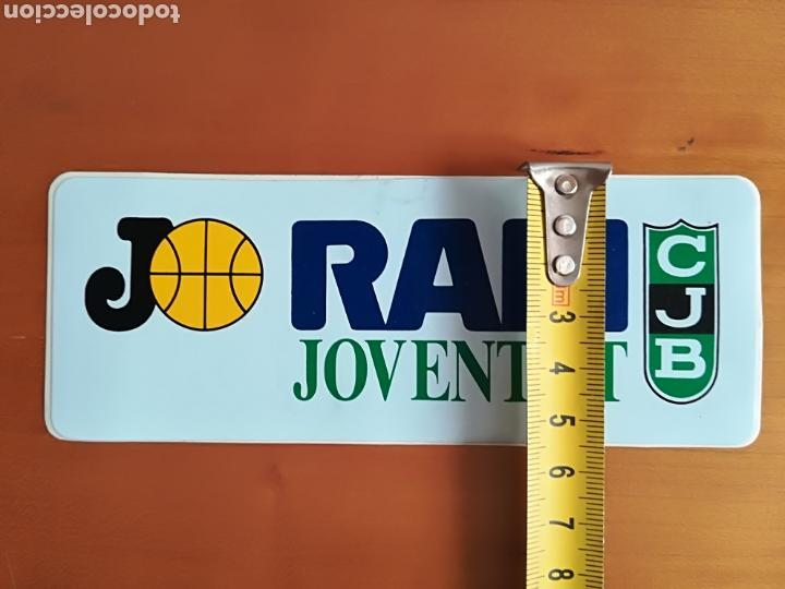Coleccionismo deportivo: Pegatina adhesivo publicidad Ram Joventut de Badalona - Baloncesto basket CJB - Foto 5 - 117833404