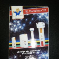 Coleccionismo deportivo: PEGATINA DE LINTERNAS VELAMP OLIMPIADAS BARCELONA 92 COBI. Lote 121725663