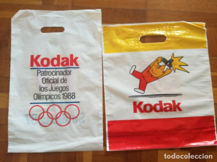 2 BOLSAS DE PLASTICO KODAK PATROCINADOR OFICIAL OLIMPIADAS BARCELONA COBI (Coleccionismo Deportivo - Merchandising y Mascotas - Otros deportes)