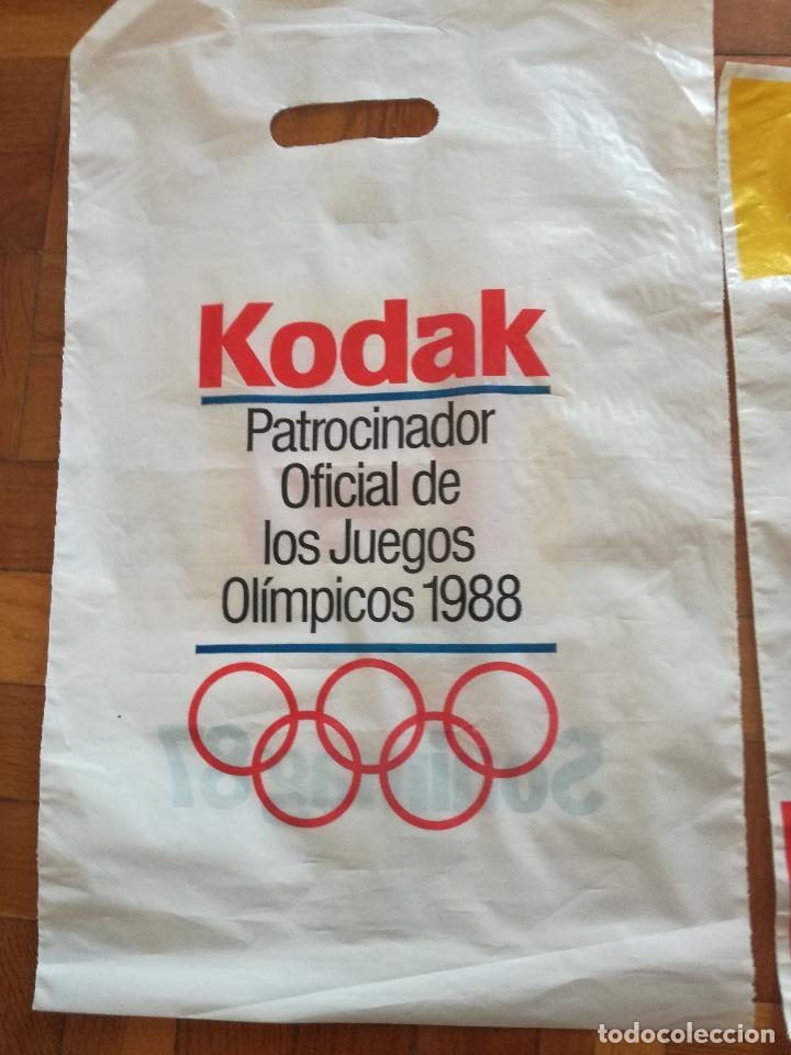 Coleccionismo deportivo: 2 BOLSAS DE PLASTICO KODAK PATROCINADOR OFICIAL OLIMPIADAS BARCELONA COBI - Foto 4 - 125684119