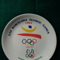 Coleccionismo deportivo: PLATO XXV BARCELONA OLYMPIC GAMES - PAKISTAN OLYMPIC ASSOCIATION .- DIAMETRO 22 CM.. Lote 127593048