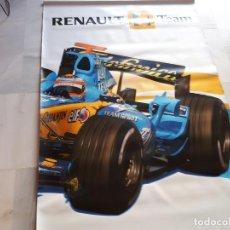 Coleccionismo deportivo: BANDEROLA RENAULT F1 TEAM – FERNANDO ALONSO – NUEVA. Lote 127647483
