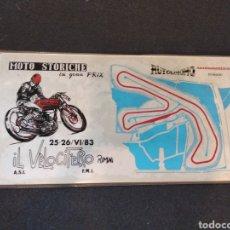 Coleccionismo deportivo: PLACA METALICA GRAN PREMIO MOTO STORICHE . AUTODROMO SANTAMONICA MISANO 1983. Lote 129212063