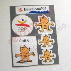 Coleccionismo deportivo: PEGATINAS DE COBI LOGOTIPO BARCELONA 92 MASCOTA JUEGOS OLÍMPICOS - MARISCAL ESPAÑA 1992 DEPORTE JJOO. Lote 129278151