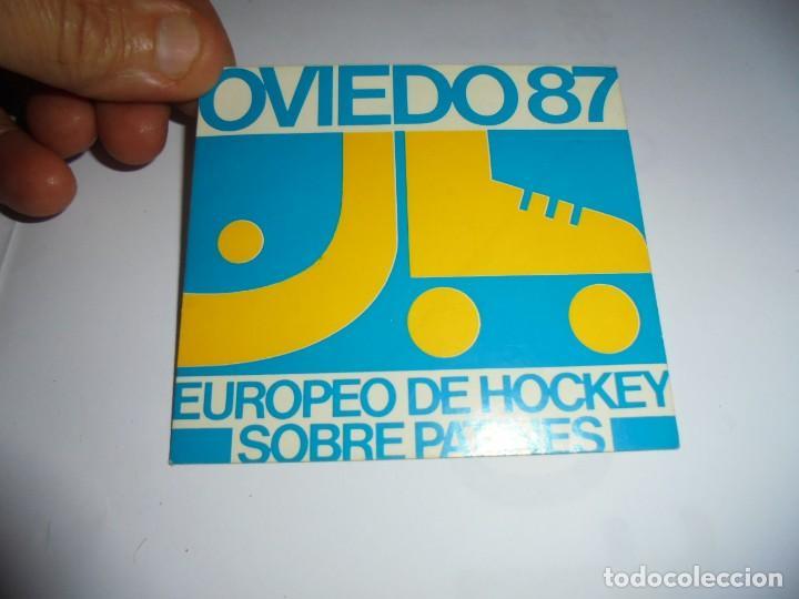 ANTIGUA PEGATINA OVIEDO 87 EUROPEO DE HOCKEY SOBRE PATINES (Coleccionismo Deportivo - Merchandising y Mascotas - Otros deportes)