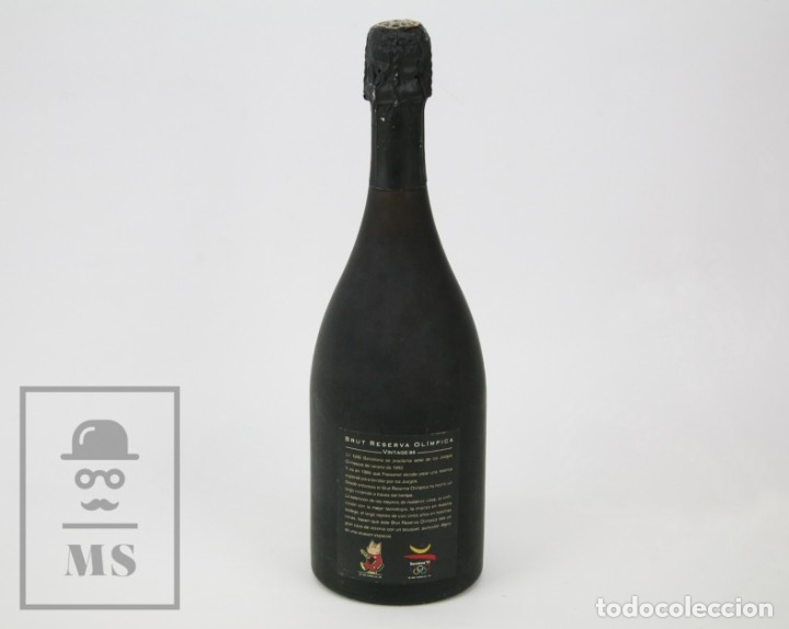 Coleccionismo deportivo: Botella con Placa de Cobi Freixenet - Cava Brut Reserva Olímpica 1986 - Olimpiadas Barcelona 92 - Foto 5 - 107003839