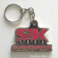 Collectionnisme sportif: LLAVERO - SBK 2000 - SUPERBIKE - EL MUNDIAL DE 4 TIEMPOS - DEPORTE - MÁS LLAVEROS EN OTRAS SECCIONES. Lote 130760284