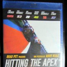 Coleccionismo deportivo: BLU RAY HITTING THE APEX MOTO GP JORGE LORENZO VALENTINO ROSSI MARC MARQUEZ DANI PEDROSA STONER. Lote 133599650