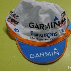 Coleccionismo deportivo: GORRA DE CICLISMO GARMIN TRANSITIONS. Lote 138611266