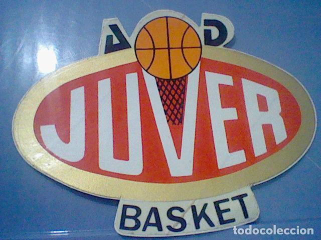 JUVER BALONCESTO A D BASKET PEGATINA ADHESIVO 80´S PROMOCIONAL ZUMOS (Coleccionismo Deportivo - Merchandising y Mascotas - Otros deportes)