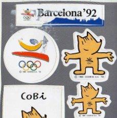 Coleccionismo deportivo: LOTE PEGATINAS BARCELONA 92 COBI. Lote 143880614